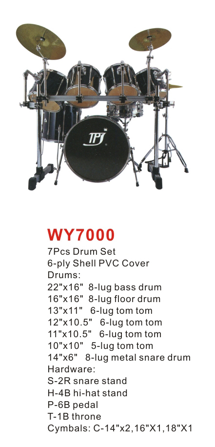7pcs drum set