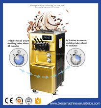 2017 super performance energy-saving of Commercial Soft Ice Cream Machine with 3 flavor