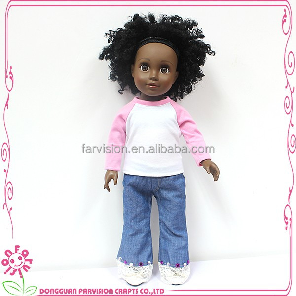 18 inch black dolls 2016 farvision doll hot sale