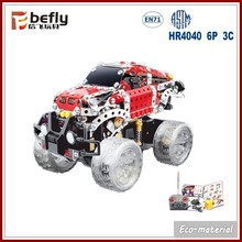 Kids educational metal puzzle diy rc car kit toys & hobbies