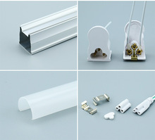 T5 Intergrated LED Tube Light Assembly Cover 0.3mm Thickness Aluminum