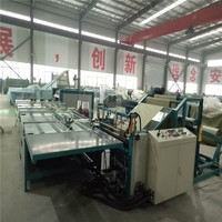 Non woven bag cutting and sewing machine for container dunnage air bag