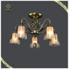 Traditional Chandelier Classic Design Pendant Lamp Metal Glass Ceiling Lamp