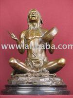 Bronze Statue Native American Indian Classic Sculpture