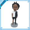 Unique custom resin man bodies dolls bobble head spring figurines,bobblehead