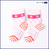 bulk custom christmas girl cotton children tube socks