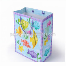 Custom printed luxury shopping paper bag , different types raw materials of paper bag
