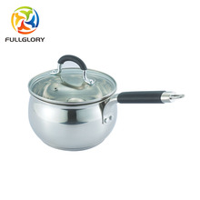 stainless steel milk pot/soup pot/sauce pan with glass lid