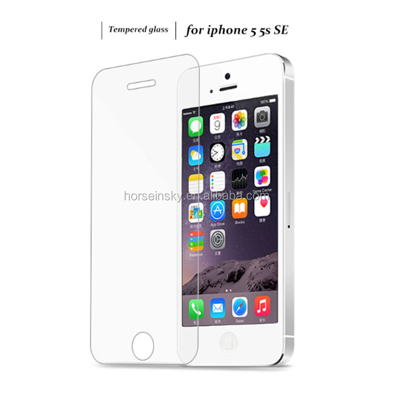 0.3mm 2.5D Tempered Glass Screen Protector For iPhone 5 5S 5c SE HD Toughened Protective Film + Cleaning Kit