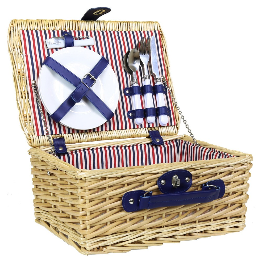 Antique Bamboo Modern Wicker Woven Picnic Basket Pictures