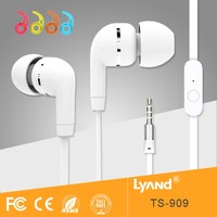 Cheap Colorful Earphone with MIC and remote headphone for apple ipad iphone 6s 7s puls mobile cell phone