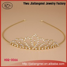 Cheap gold-plated decoration small bridal tiara wedding hair crown and tiaras