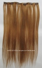 virgin indian remy hair clip on extension