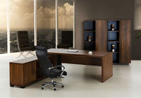 Antique Wooden office Melamine laminated particle board Executive Desk/Boss desk/Manager desk