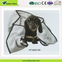 Eco Friendly Feature beautiful dog cleaning microfiber pet towel