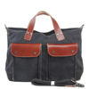 Genuine leather canvas tote bag made in China