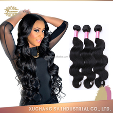 Top selling 6A body wave hair, virgin brazilian human hair extension