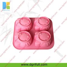 Cute cat head shape silicone ice cube container