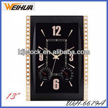 Beautiful wall clock with temperature and humidity display/promotion wall clock