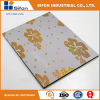 2016 Laser Aluminum Composite Panels ACP Fireproof Decoration And Building Material