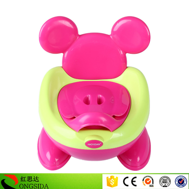 Cheap price cartoon design colorful 1-3years old plastic potty seat <strong>baby</strong>