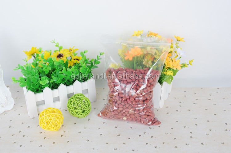 Sealed Biodegradable Plastic Rice/Nuts/Sea Food Packing Bags Zip Lock Plastic Bags