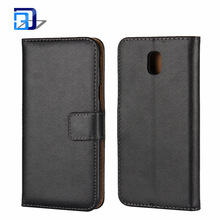 Hot Selling Products Genuine Leather Book Style Card Slots Wallet Magnetic Flip Case Cover for Galaxy J5 2017 J530