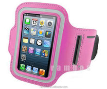 Bracadeira Para Celular PU Leather Mobile Phone Sports Running Jogging Arm Belt Armband Case Cover for iPhone 4 4S