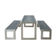 Arlau WPC Wood Table Sets, Garden Outdoor Furniture OEM