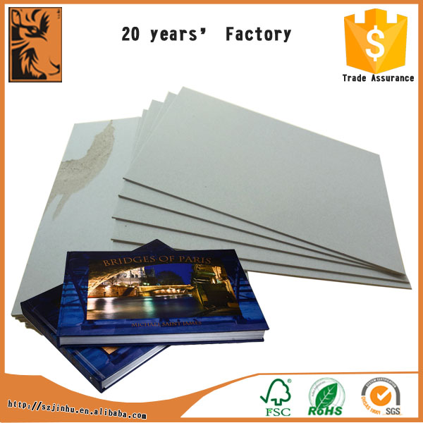 High smoothness recycle laminated grey board for hardcover book cover
