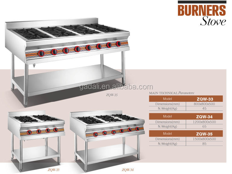 Widely used 4 burner table top built in gas range cooker guangdong