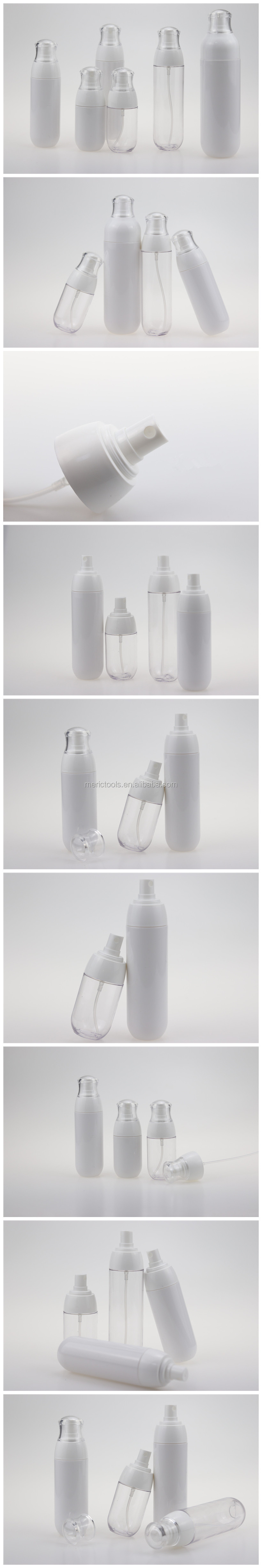 2019 New style hot sale PETG 2 types plastic spray bottle/perfume/cosmetic water plastic bottle and Emulsion bottle