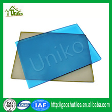 GE SABIC uv coating glittering impact resistance waterproof bulletproof 100% lexan 103r uv coated polycarbonate solid sheet