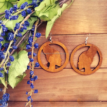 Cheap price brown color african wood earrings