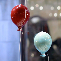 Modern decorative handicraft products colorful blown glass balloons murano