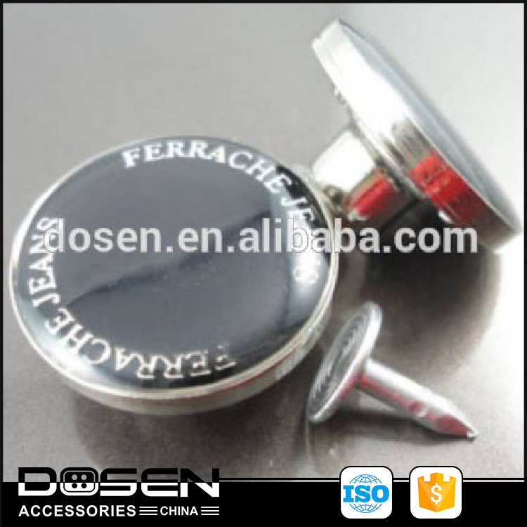 wholesale apparel accessories high quality metal buttons for jeans accessories