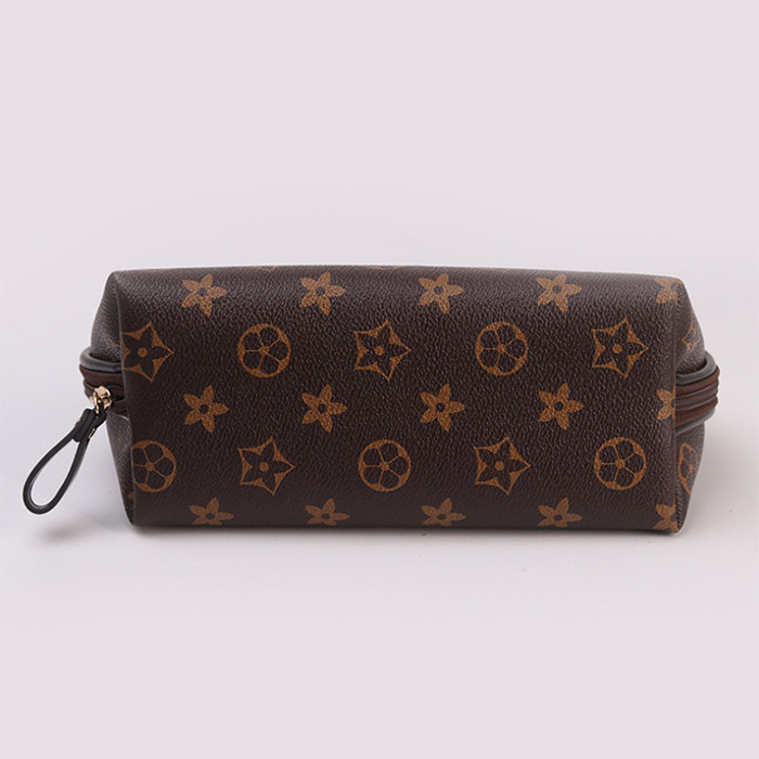 Luxury woman PU leather cosmetic bag makeup bag toiletry bag