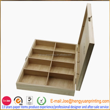 Custom Wood tea box packaging wood box open top CH1106
