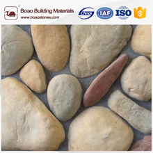 Faux river rock cobble stone veneer for wall decoration
