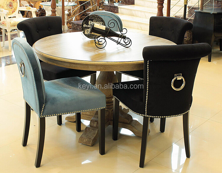 New Modern Button design Fabric Dining/ Living / Hotel Ring back chair (KY-3205)