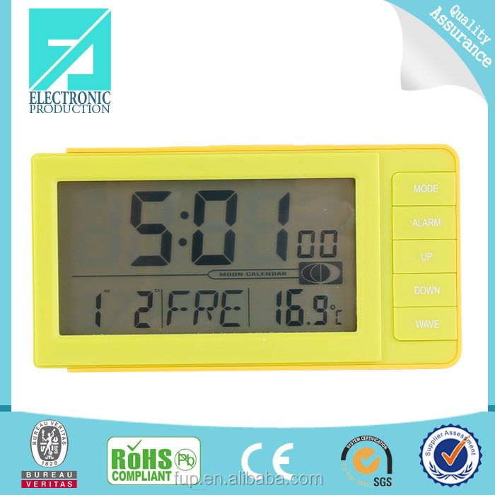 Fupu radio controlled mechanical calendar color backlight clock
