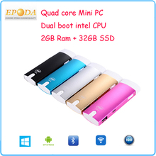2015 New Arrival Super Small Mini PC Android, Mini PC Android Windows Dual Boot, Desktop Mini PC CPU