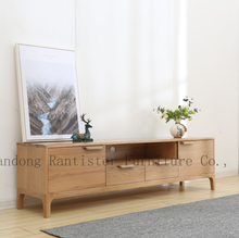 Spring grass TV stand with drawers simple and modern small household solid wood <strong>furniture</strong>