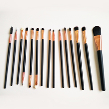 Professional 15 pcs Rose Gold Synthetic Foundation Makeup Brushes Set Cosmetic Kits