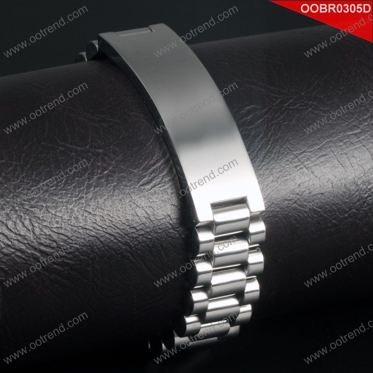 new style chain design men stainless steel ID bracelet