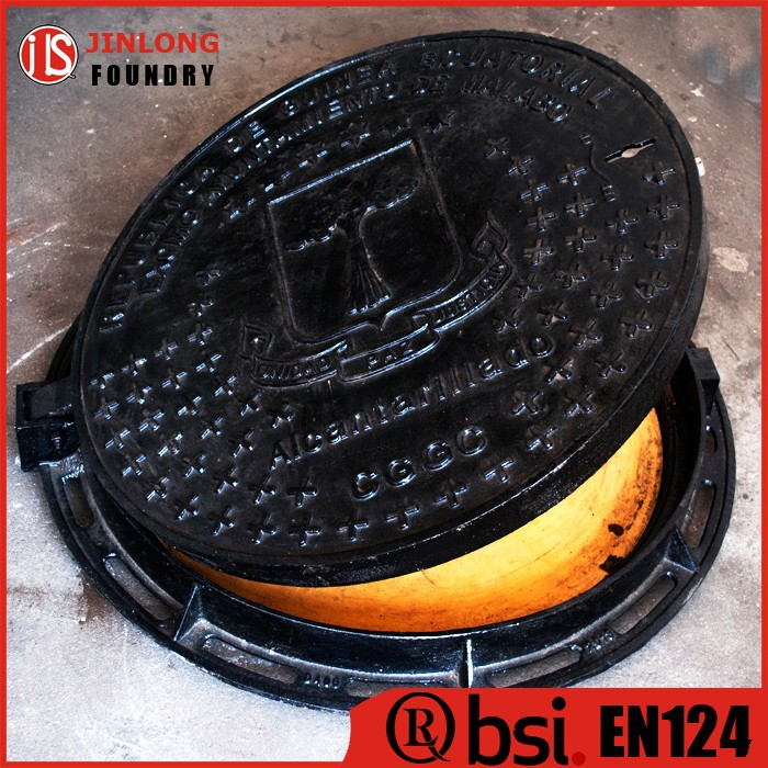EN124 main way manhole cover with grp sealing plate factory sale