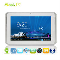 cheapest 7 inch tablet with high resolution portable bluetooth gsm laptop mtk6572 battery with 3000mAh S77