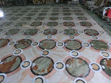 Waterjet marble floor medallion for hotel lobby project