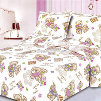 100% polyester sheet lovely t/c cotton fabric bed sheet cheap
