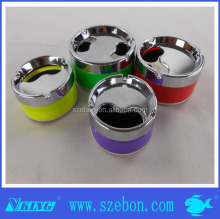 2014 new design promotion color painting stainless steel ashtray with cover